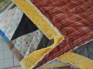 Binding one of the baby quilts